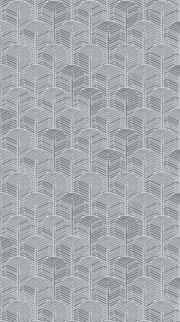 Full width of Edfu Palm Shades of Grey wallpaper