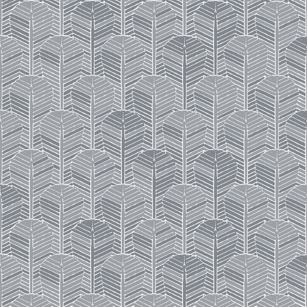 Fabric Edfu Palm Shades of Grey design