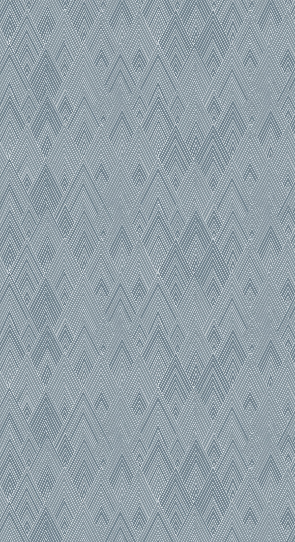 Full width of Edfu Pyramids Denim Blue wallpaper