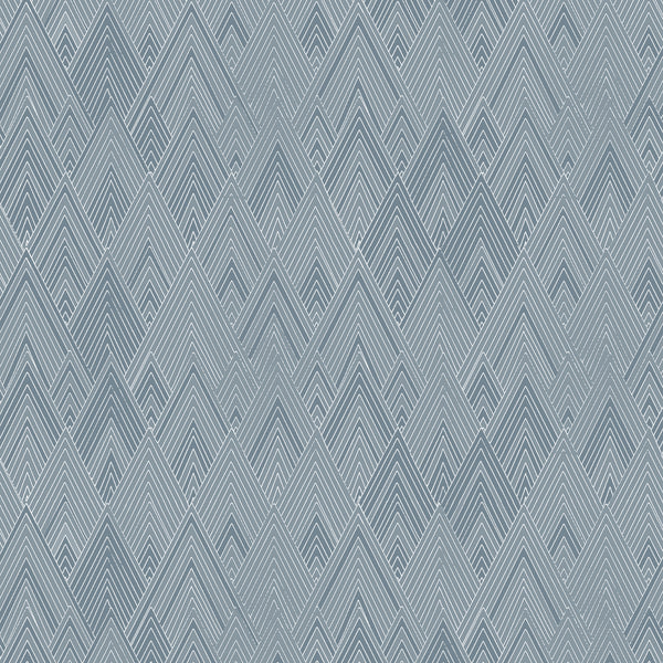 Fabric Edfu Pyramids Denim Blue design