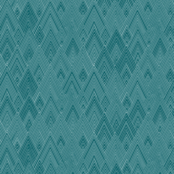 Fabric Edfu Pyramids Kingfisher design