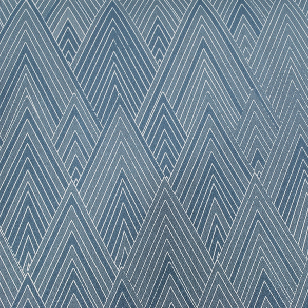 Close up of Edfu Pyramids Denim Blue wallpaper