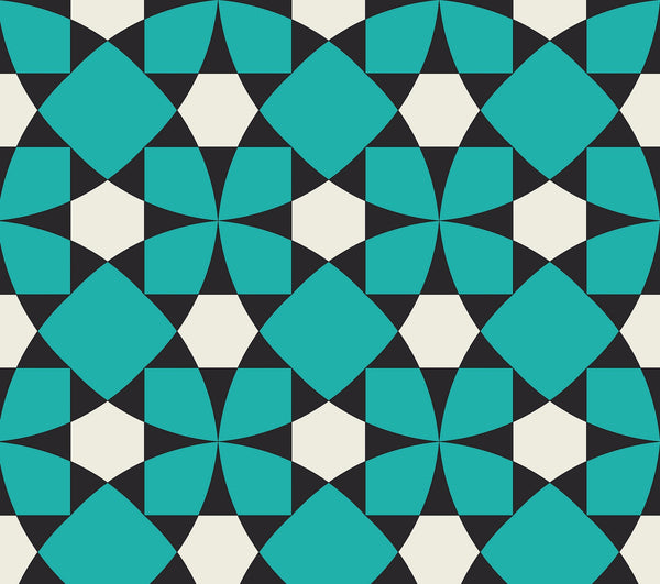 Travels | Wallpaper | Inlay Turquoise