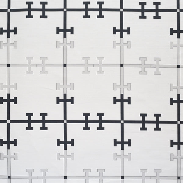 Trellis Grey design fabric