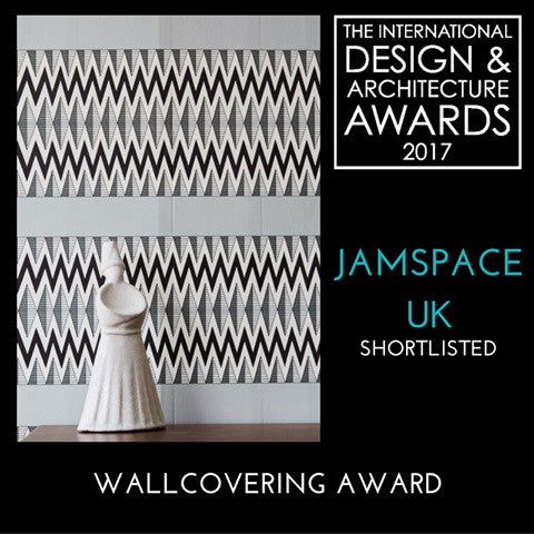 Announcement of the Flow Charcoal being shortlisted for the Wall Covering Award in the Design & Architecture Awards 2017