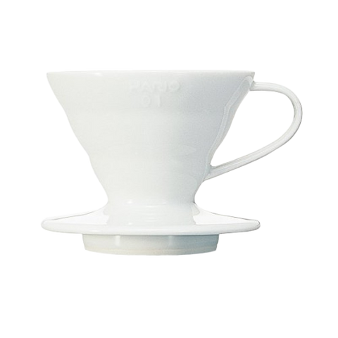V60 Coffee Dripper 01 Ceramic / White