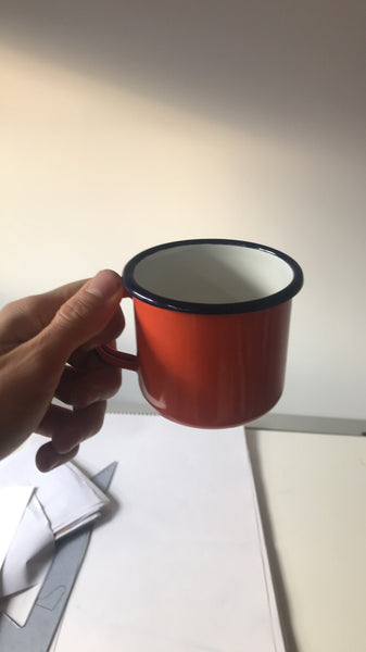 Coffee cup enamel