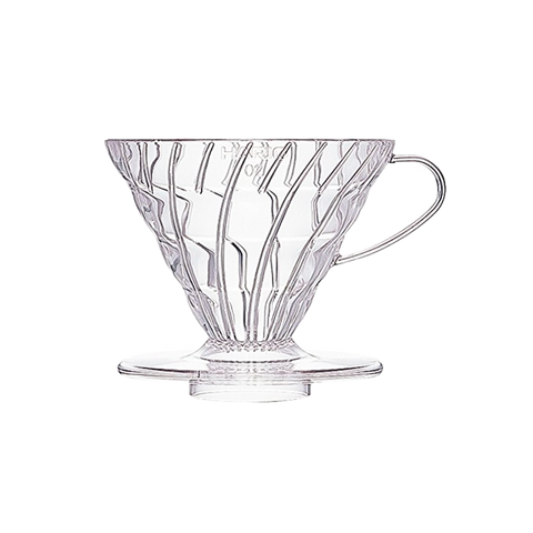 V60 Coffee Dripper 02, Plastic / Clear