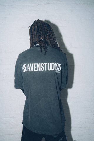 HEAVENSTUDIOS T-SHIRT / VINTAGE BLACK