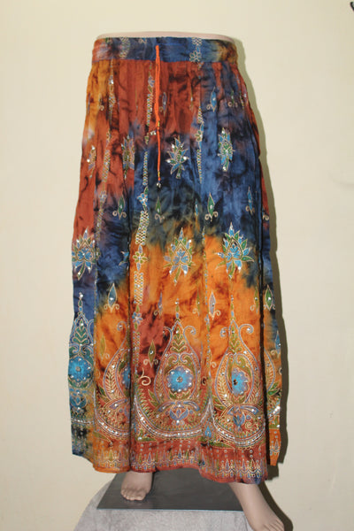 Beautiful Tie Dye Long Skirt