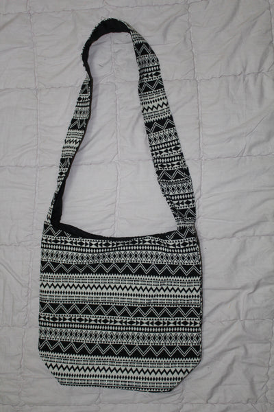 Basic Printed Canvas Sling Bag