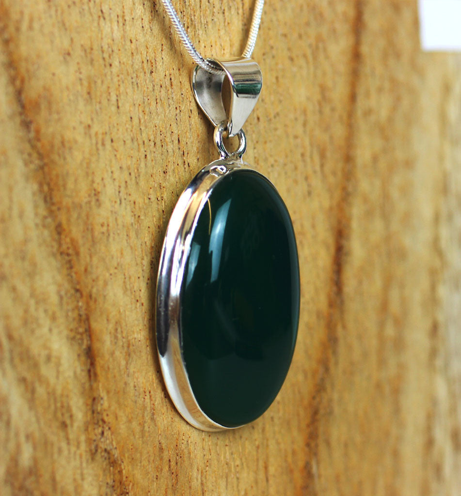 Green Onyx 925 Sterling Silver Pendant