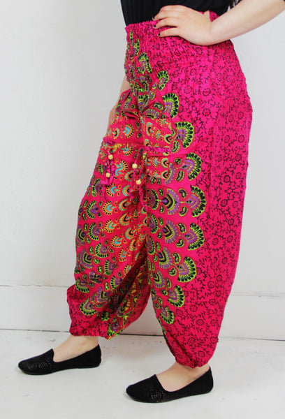 Mandala Patterned Baggy Harem Trousers