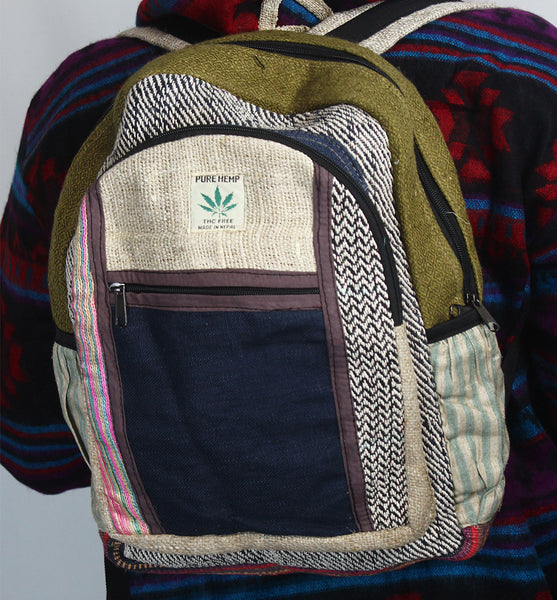 Unique Custom Pure Hemp Backpack