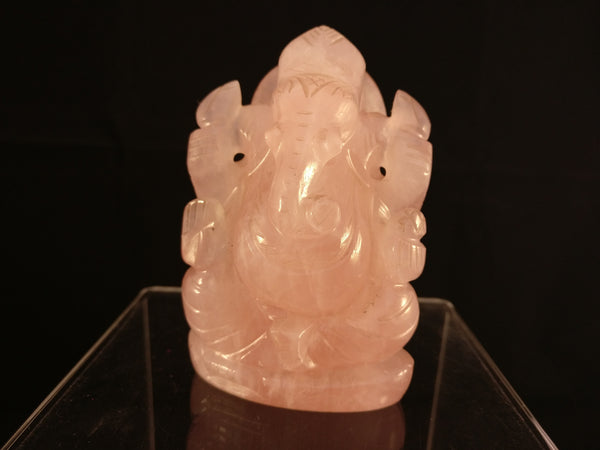 Rose Quartz | Ganesha Gemstone Statue