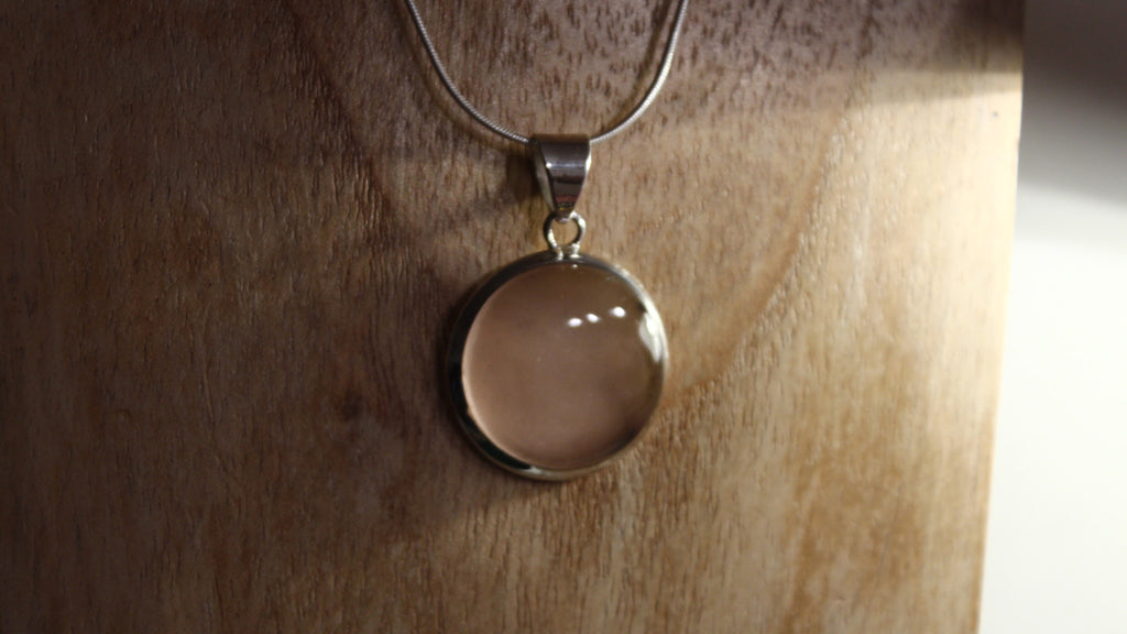 Rose Quartz Circle Gemstone Pendant 925 Sterling Silver