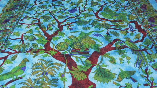 Tree of Life Cotton Bed Throw