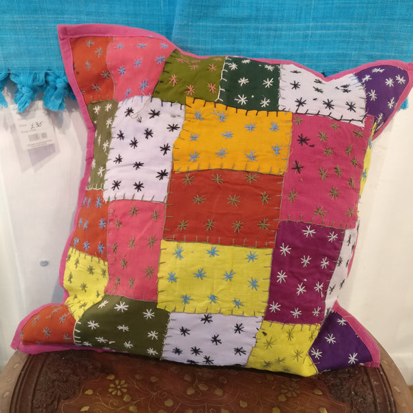 Handmade Cotton Patchwork Cushion Covers