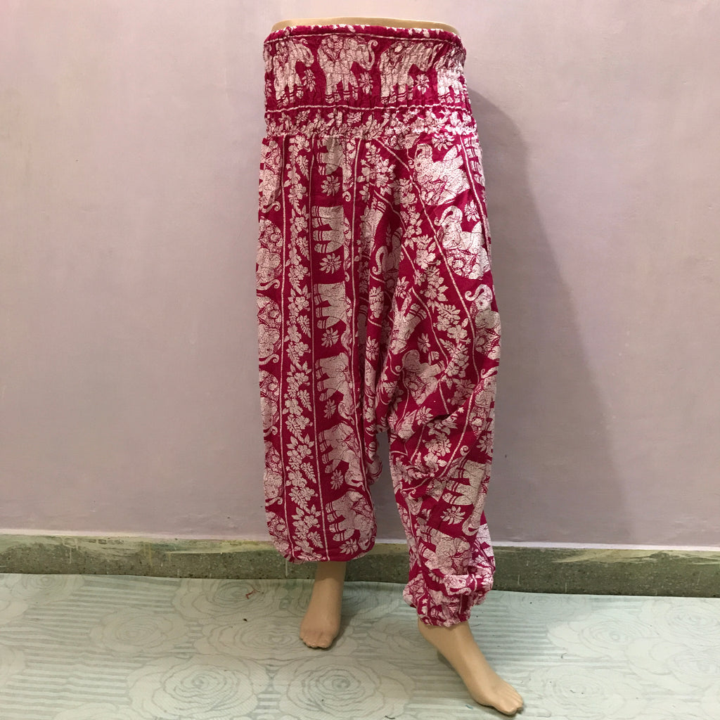 Womens Printed Baggy Harem Trousers