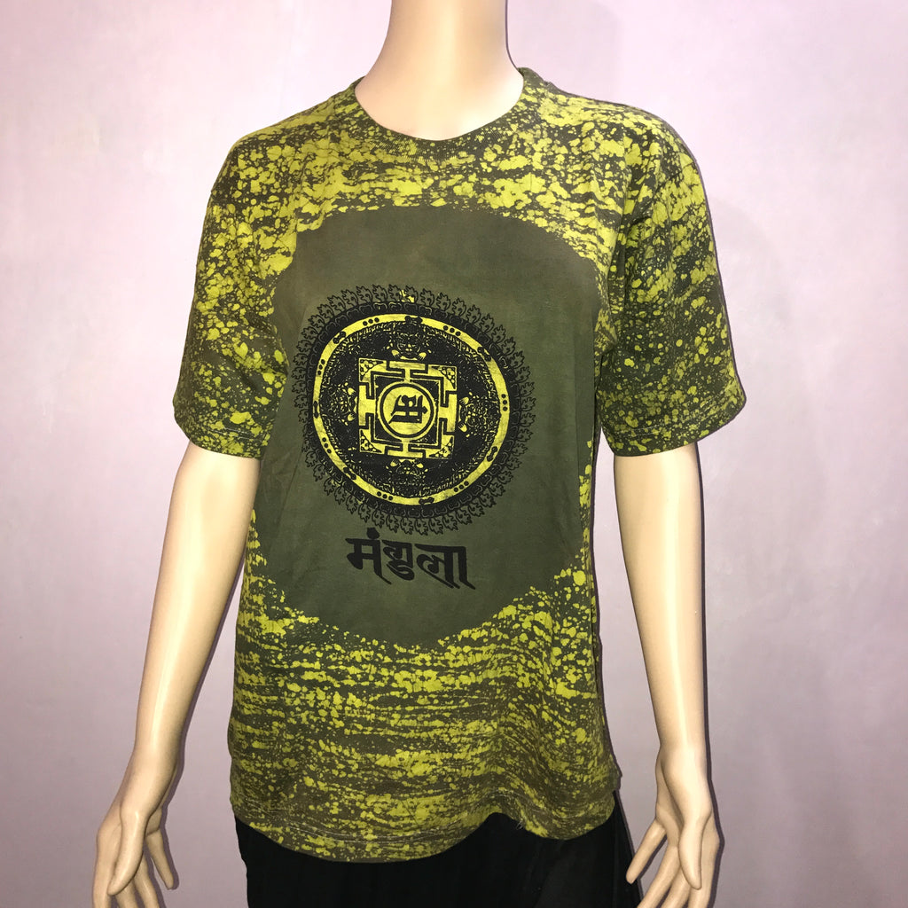 Womens Green Printed T-Shirt