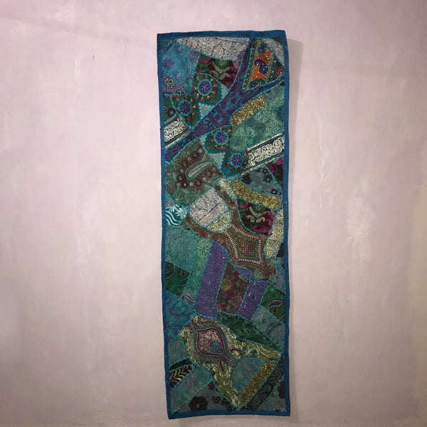 Indian Handcrafted Sequin Beaded Table Runner/ Wall Hanging
