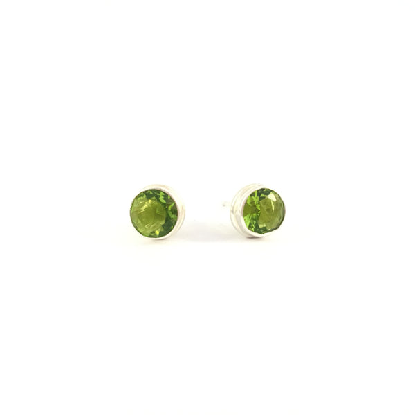 Peridot Stud Earrings | 925 Sterling Silver