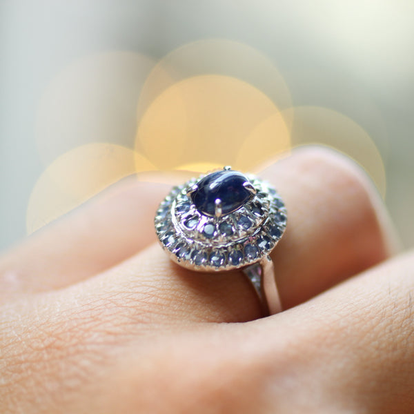 Blue Sapphire Gemstone Ring | 925 Sterling Silver