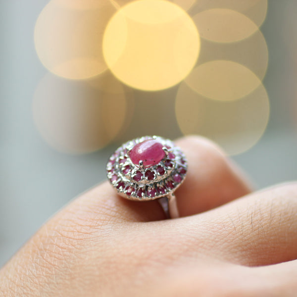 High Quality Ruby Ring | 925 Sterling Silver