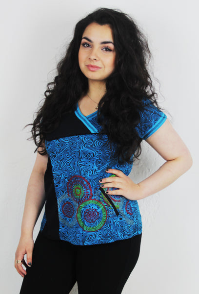 Mandala Pattern V-Neck