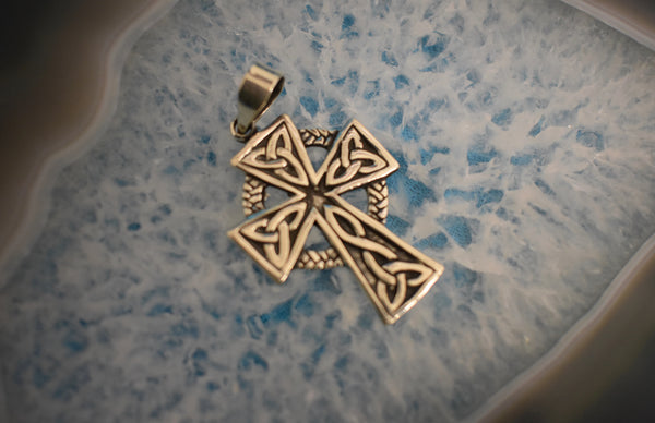 Sterling Silver Celtic Cross Pendant (925)