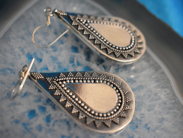 Sterling Silver Tear Drop Earrings (925)