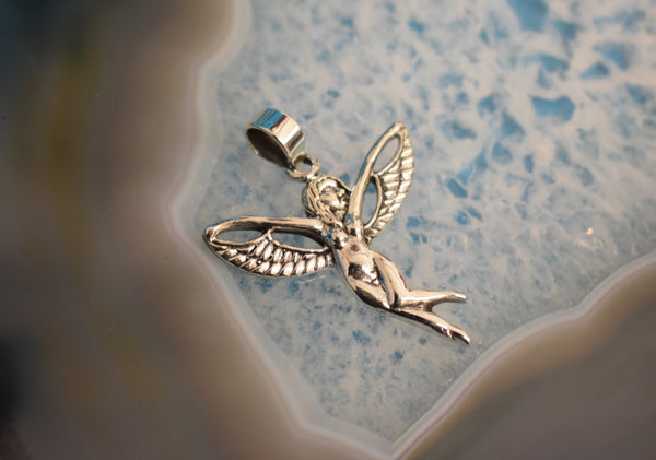 Sterling Silver Fairy Pendant (925)