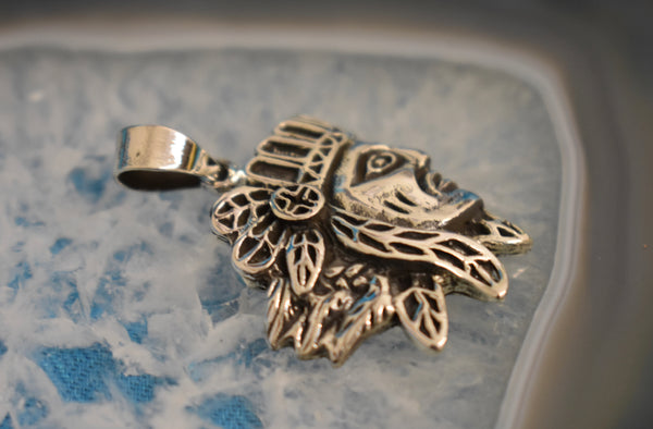 Sterling Silver Native American Pendant (925)