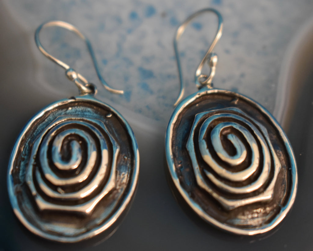 Sterling Silver Swirl Earrings (925)