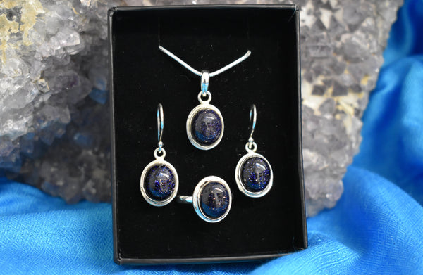 Sterling Silver Nightstone Set (925)