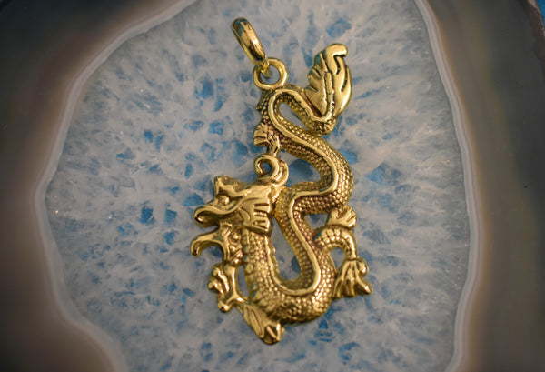 Brass Chinese Dragon Pendant