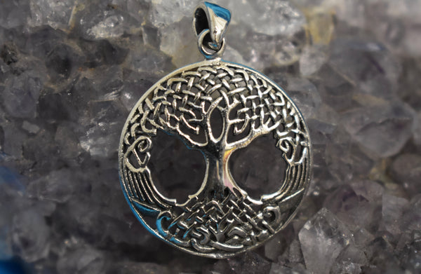 Sterling Silver Celtic Tree of life Pendant (925)