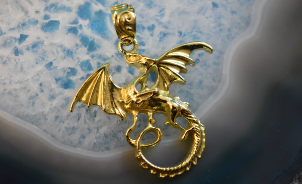 Brass European Dragon