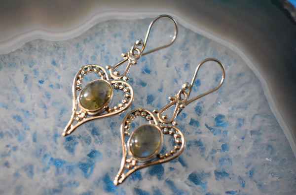 Sterling Silver Heart Earrings (925)