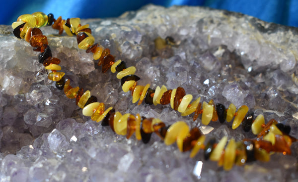 Mixed Amber Teething Necklace