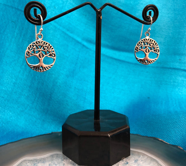 Sterling Silver Tree of Life Earrings (925)