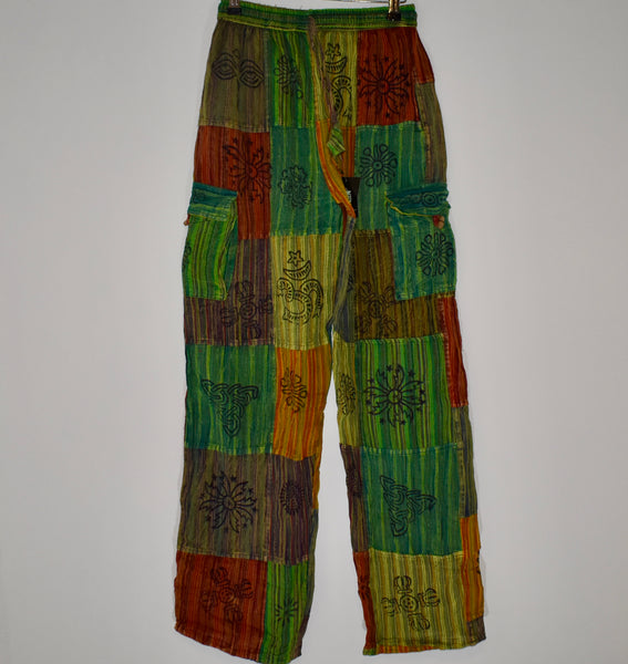 Nepalese Stamp Patchwork Trousers