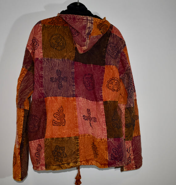 Thick Lined Nepalese Patchwork Coat