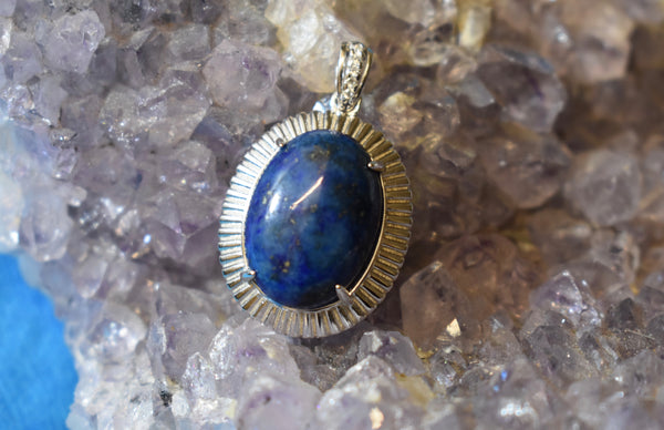Sterling Silver Sodalite Pendant (925)