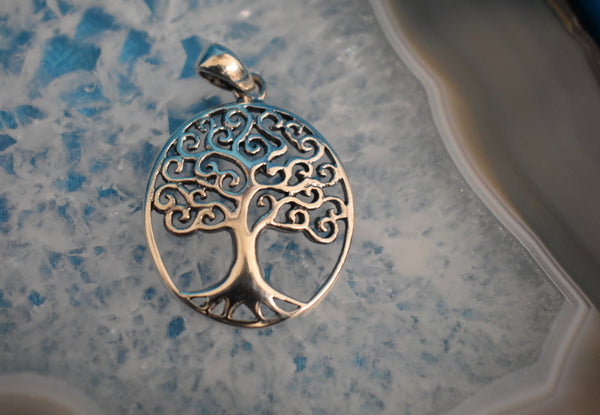 Sterling Silver Tree of Life Pendant (925)