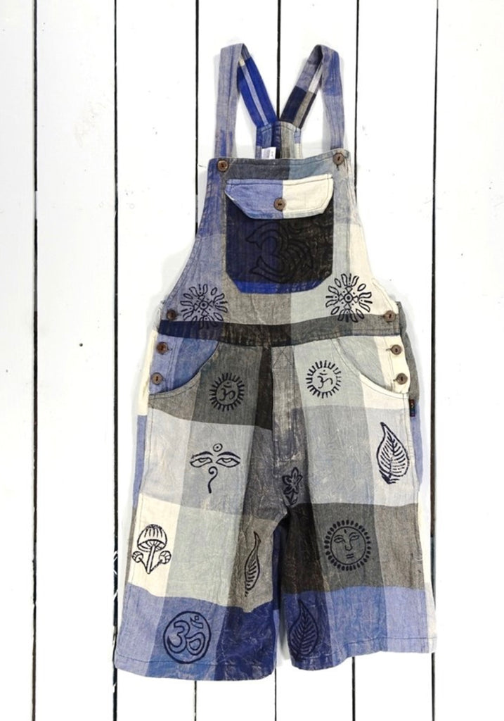 Dungaree Short Patchwork
