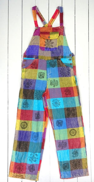 Nepalese multi patch dungarees