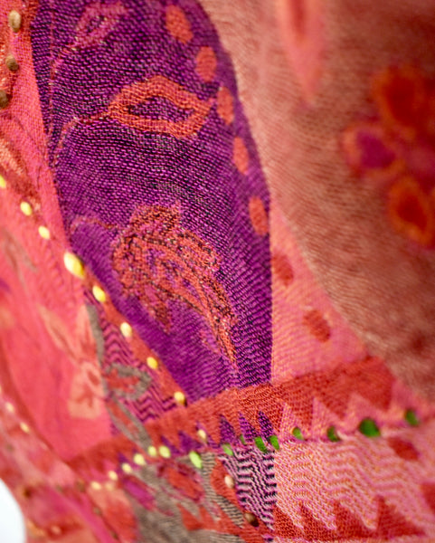 Beautiful Embroided Merino Wool Shawls