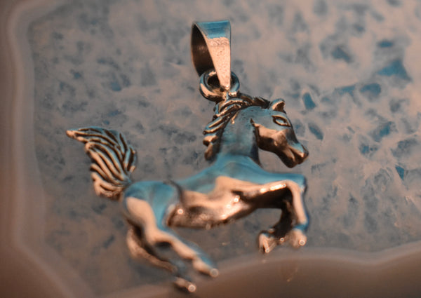 Sterling Silver Horse Pendant (925)
