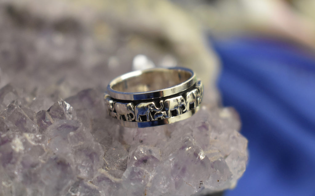 Elephant Spinner Ring